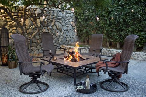 Firepit Seats Pointer to Shake It Up